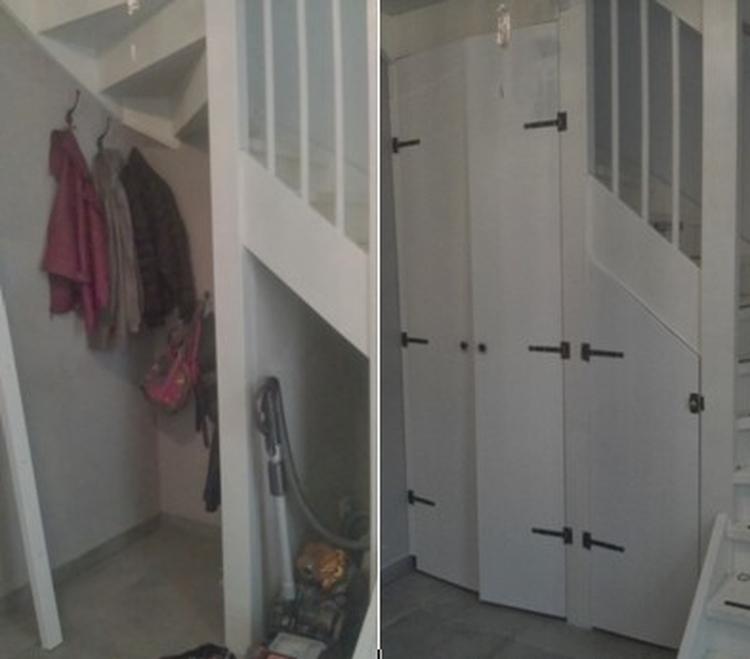 DIY: een trapkast maken. nooit meer slingerende schoenen, jassen en ...