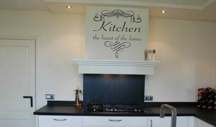 Originele Muurteksten Keuken : Originele muurteksten keuken