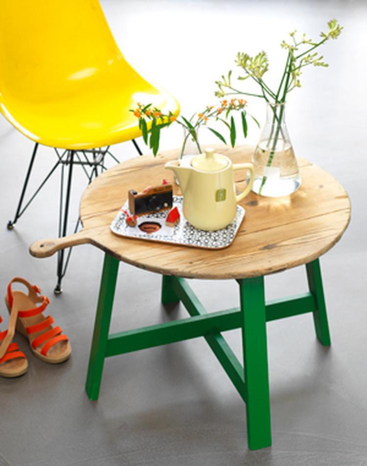 eenvoudig maar erg leuk idee om zelf een salontafel te. Black Bedroom Furniture Sets. Home Design Ideas
