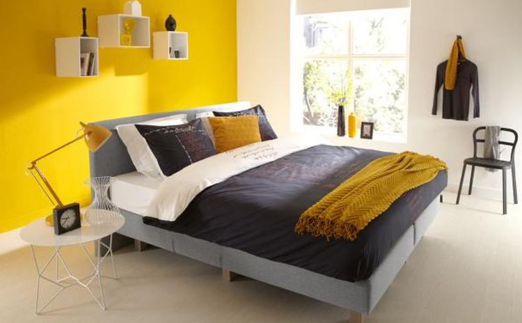 Gele Muur Slaapkamer : Grijs geel slaapkamer finest woonkamer grijs geel kleuren voor