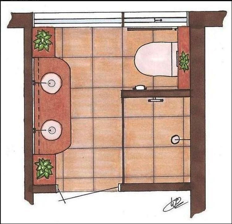 plattegrond kleine badkamer. Foto geplaatst door MarjaC op Welke.nl