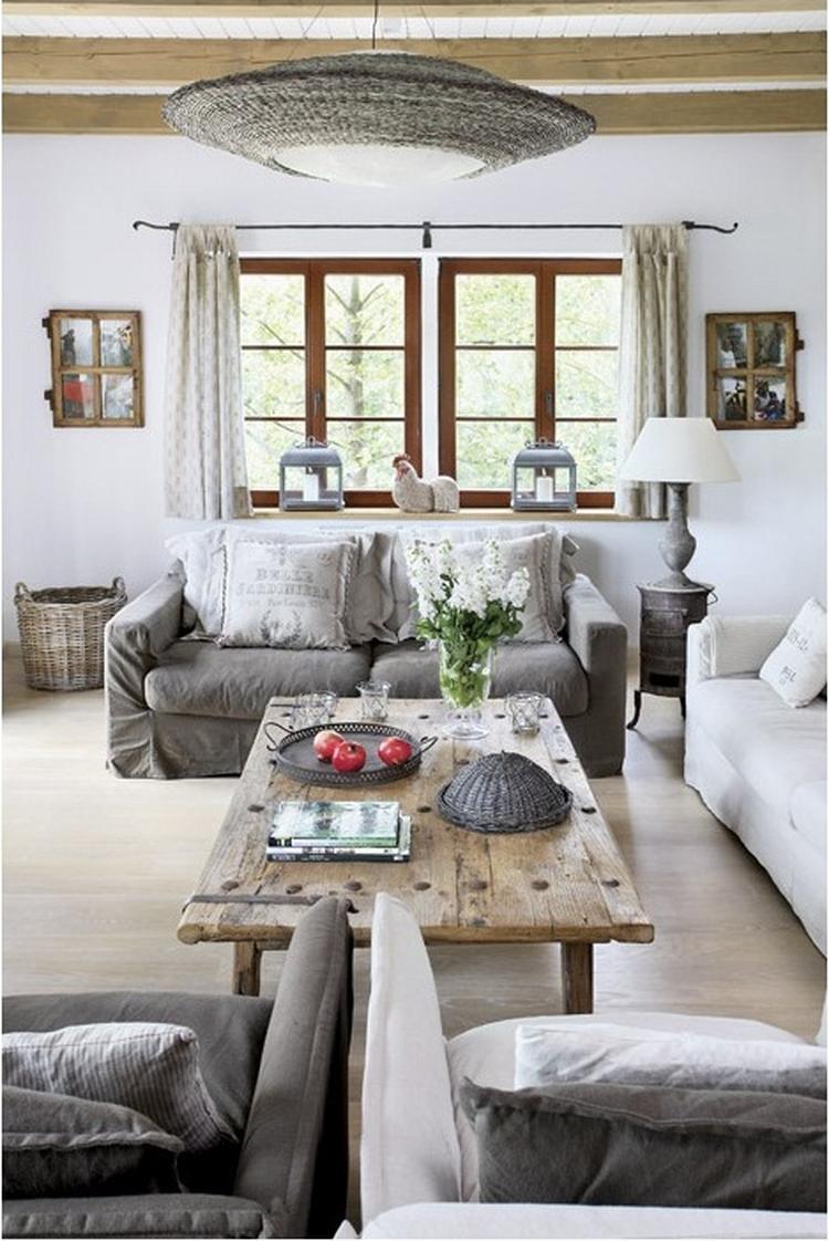 Mooie landelijke woonkamer. Foto geplaatst door Ietje op Welke.nl