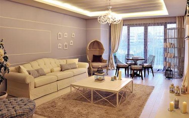 Romantische pasteltinten in de woonkamer. Foto geplaatst door bingok ...