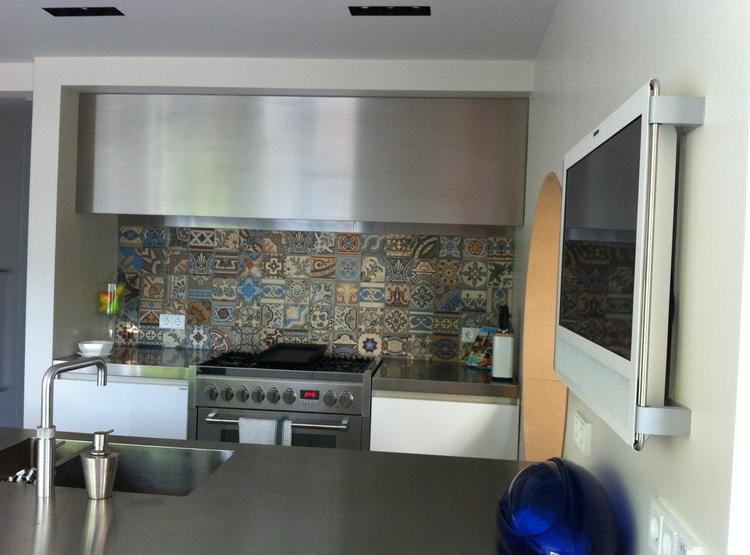 Oude tegels voor keuken: zwart witte tegels keuken nieuw badkamer