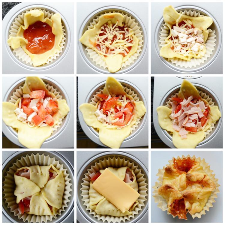 Zeer Heel gemakkelijk pizza muffins maken! Lekker voor als hapje bij de  ZW25