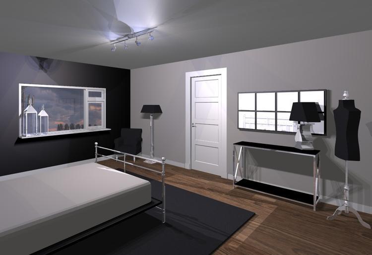 3d ontwerp van een grote slaapkamer. Foto geplaatst door JH_Wonen op ...