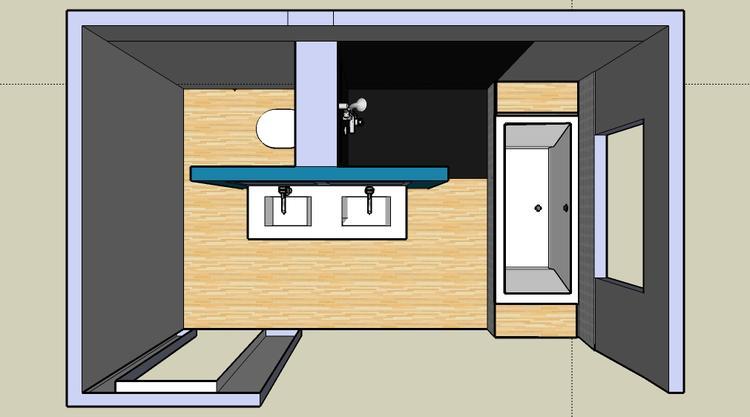 indeling badkamer. Foto geplaatst door mariekef op Welke.nl
