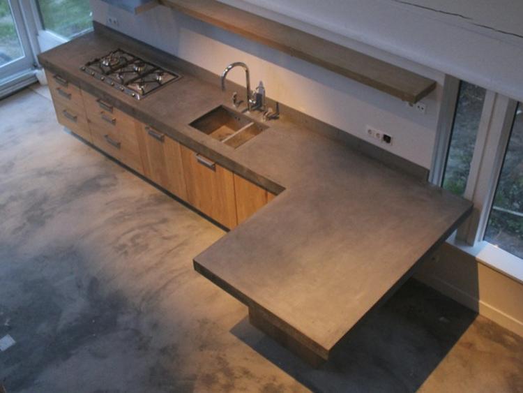 Houten Keuken Beton : Houten keuken met betonnen blad. foto geplaatst door mamwijnker op