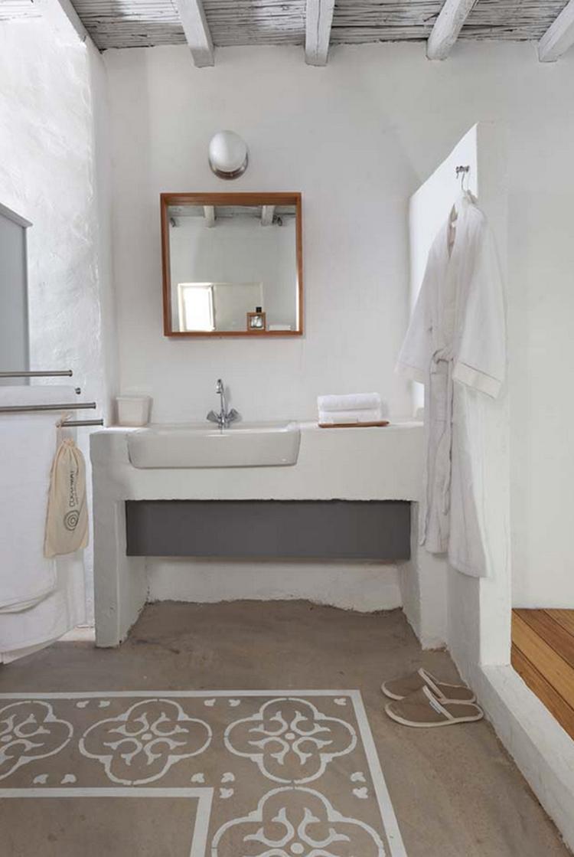Rustige mediterrane sfeer in deze badkamer.. Foto geplaatst door ...