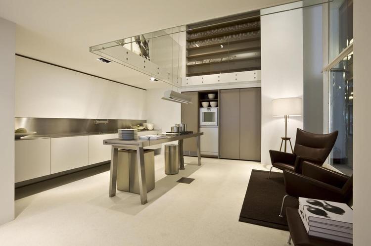 Moderne Open Keukens : Strakke moderne open keuken de bulthaup b kent een ongekend