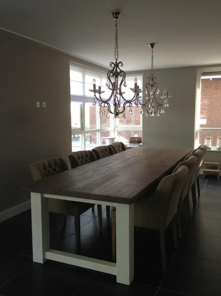 landelijke eetkamer tafel 350cm x 100cm voor 8 stoelen boven de ...