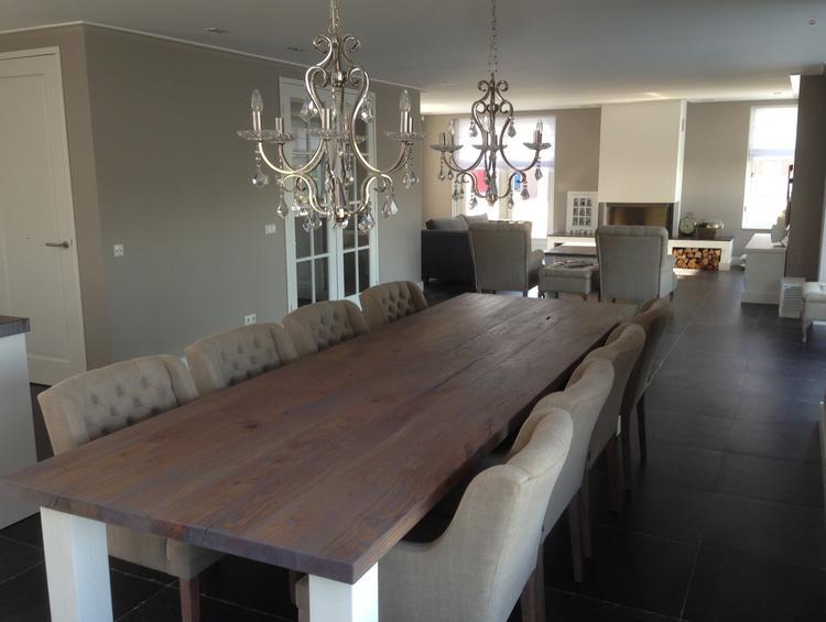 landelijke eetkamer tafel gemaakt door XXLtafel op maat van 350 x ...