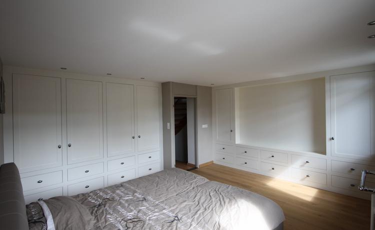 landelijke kasten volledige inbouw in de slaapkamer. kast voorzien ...