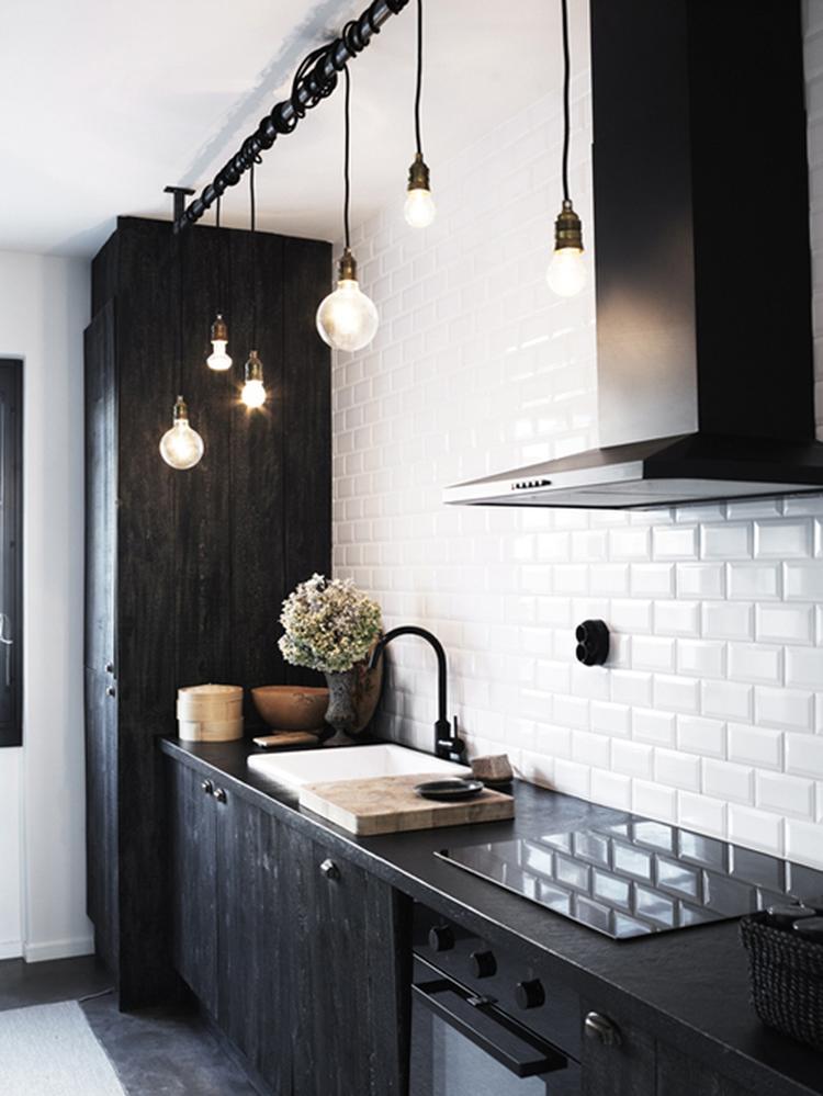 Zwart/wit keuken spannend effect. foto geplaatst door parisienne ...