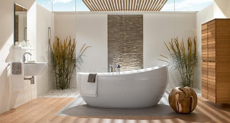 rustige badkamer met natuurlijke kleuren. Foto geplaatst door ...