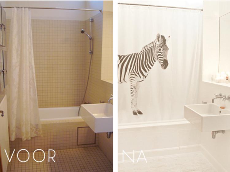 je badkamer een metamorfose geven door de tegels te verven! Ook leuk ...
