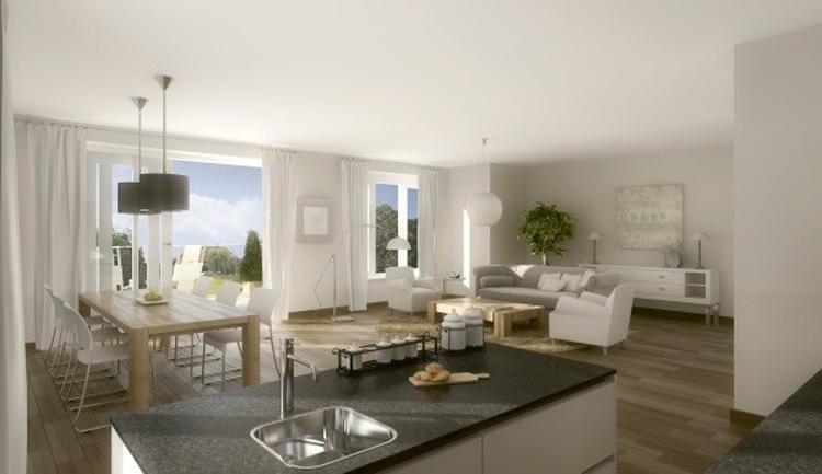 woonkamer met half-open keuken. Foto geplaatst door juliokw op Welke.nl