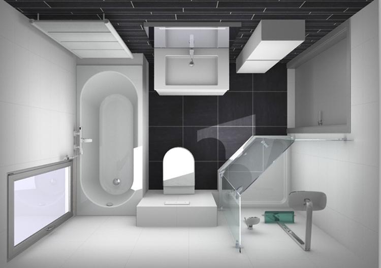 indeling kleine badkamer. Foto geplaatst door kim.huiskamp.7 op Welke.nl