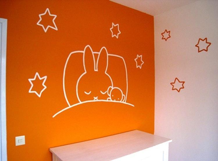 Nijntje babykamer muurschildering - muurtekening - wandschildering ...