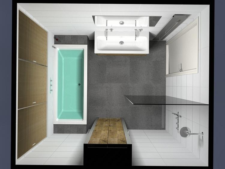 Kleine badkamer idee - Foto badkamer meubels ...