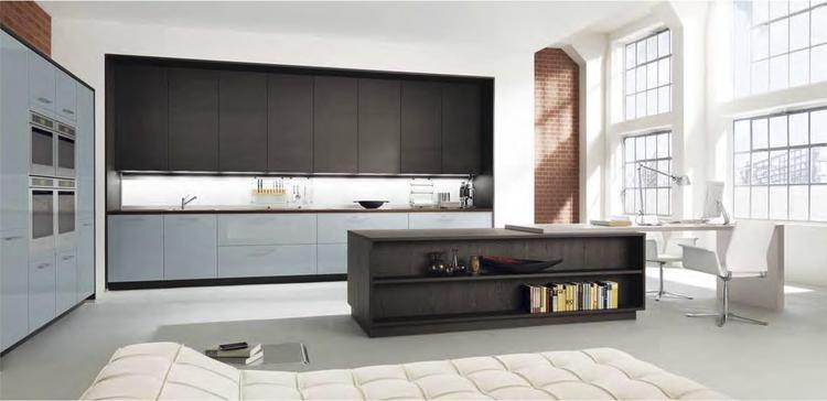 Moderne bruine en lichtblauwe keuken van alno. wanneer je kiest ...