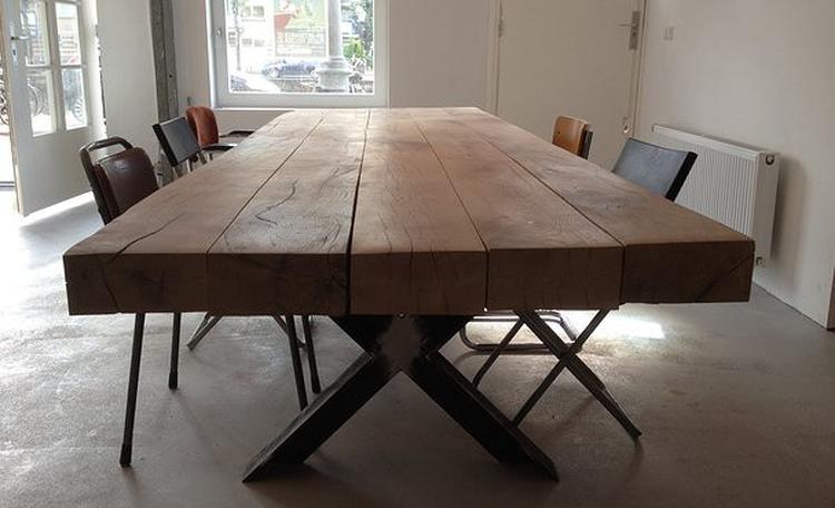 Grote Houten Tafels : Beroemd ruw houten tafel rw77 belbin.info