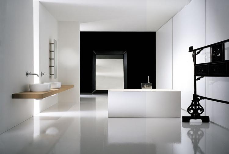 Zwart witte badkamer minimalistisch. foto geplaatst door kwyns op