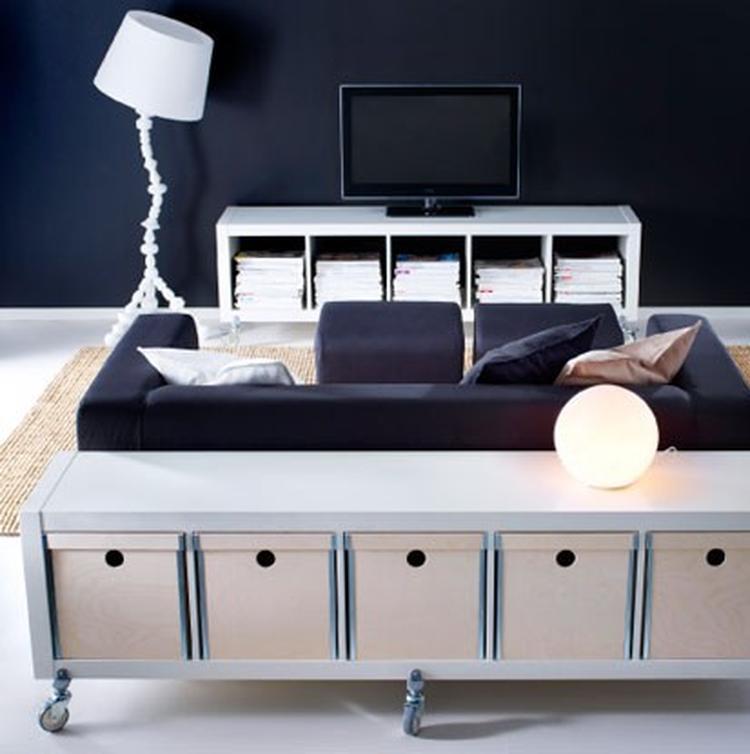Ikea Tv Meubel Op Wielen Expedit Kast Foto Geplaatst
