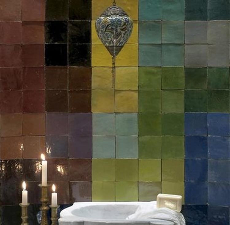 handgebakken marokkaanse zelliges. in vele mooie kleuren. voor, Badkamer