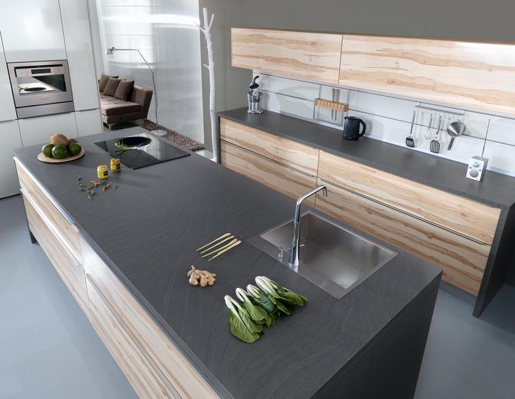 Moderne houten keuken. Deze keuken is modern zonder zijn warmte te ...