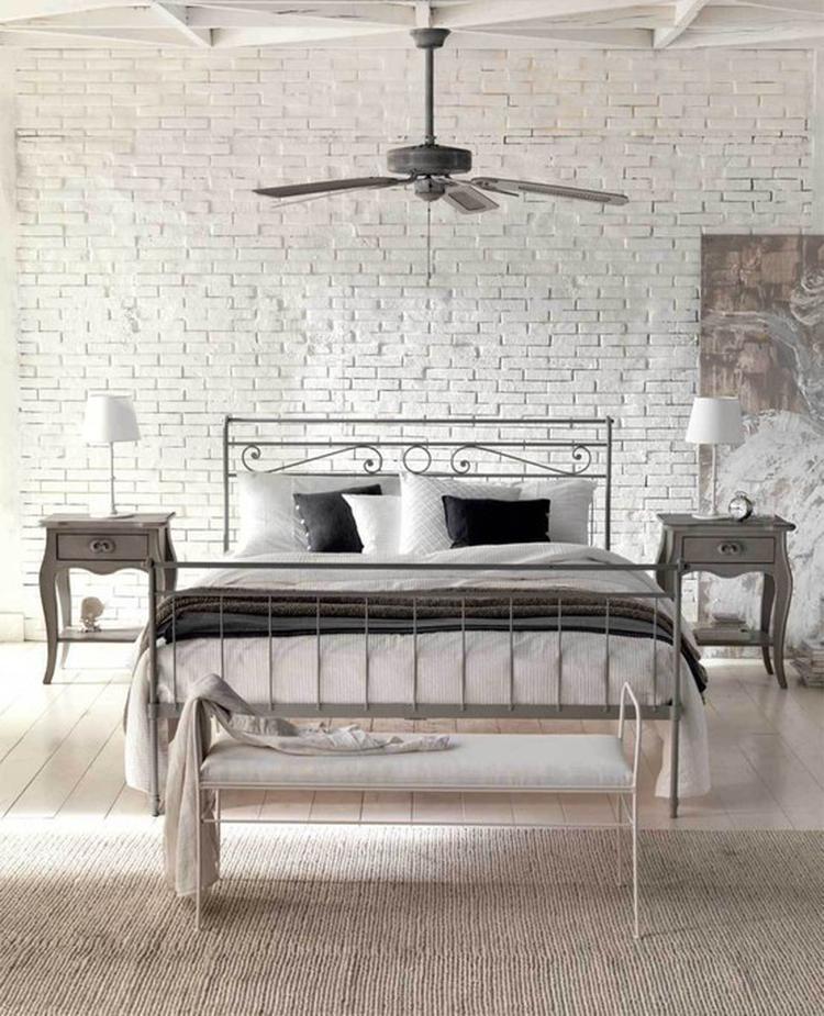 Fantastische voorbeelden van houten en stenen muren in de slaapkamer ...