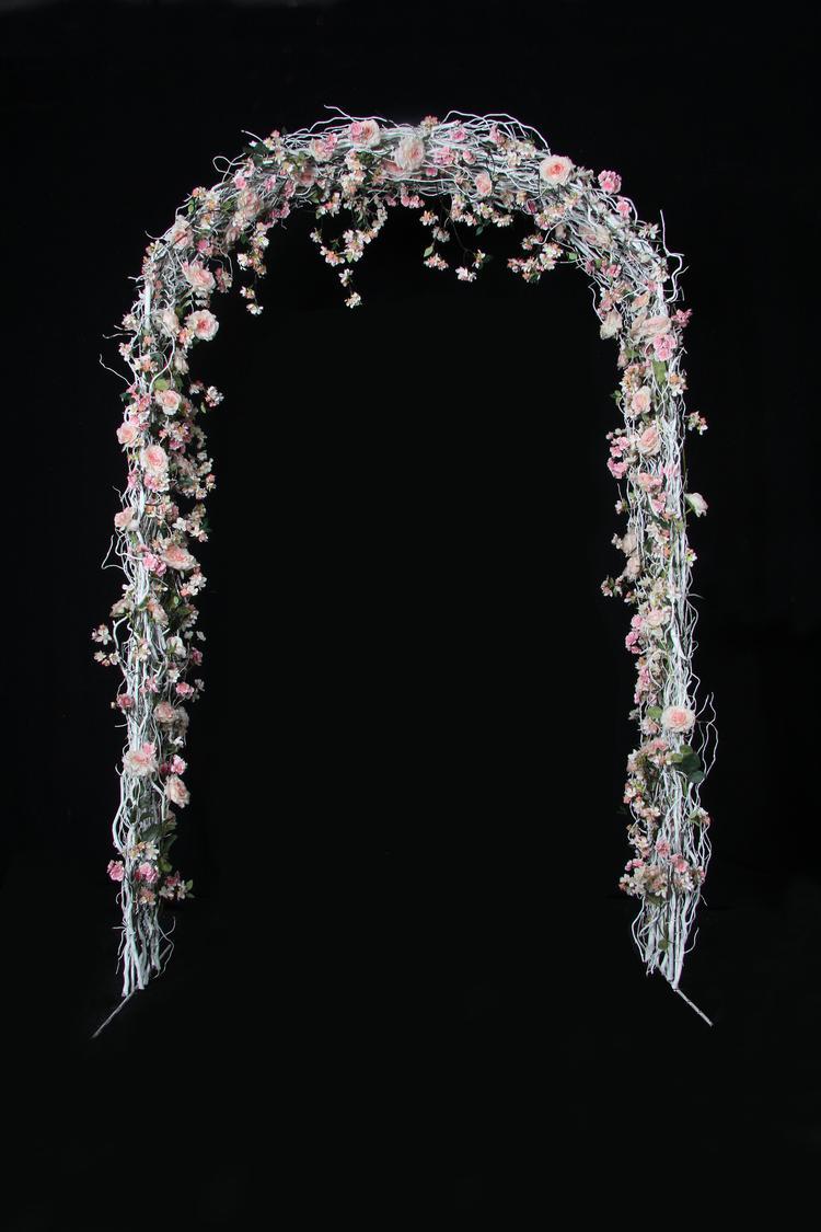 Welp Bloemen boog, feestboog gemaakt met witte decoratietakken en zijde BD-11