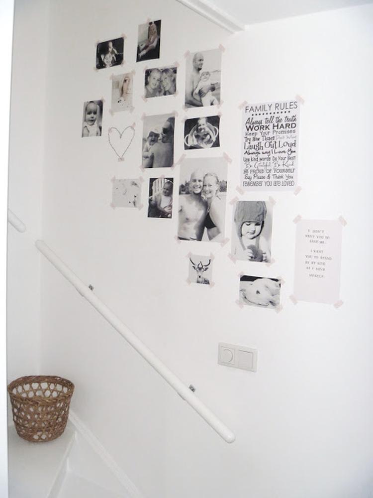 Couloir de souvenirs - déco murale avec photos Noir & Blanc