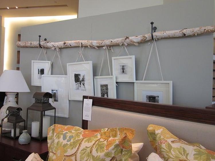 Plank Voor Lijstjes.Een Grote Tak Uit Het Bos Halen En Ophangen En Leuke