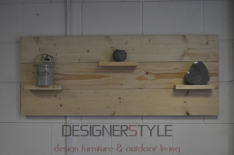 Wand decoratie bord geschuurd steigerhout onbehandeld