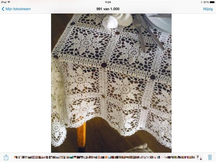 Tafelkleed Haken Patroon Vanaf De Site Van Onlycrochet Foto