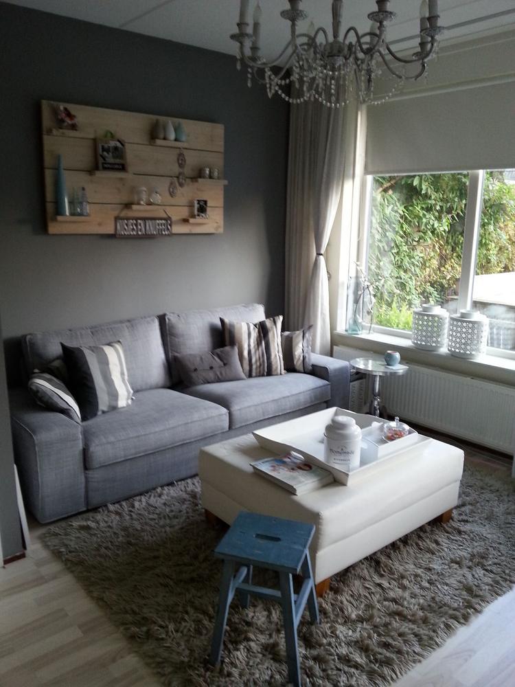 Mijn nieuwe woonkamer landelijke style. Met een paar aanpassingen ...