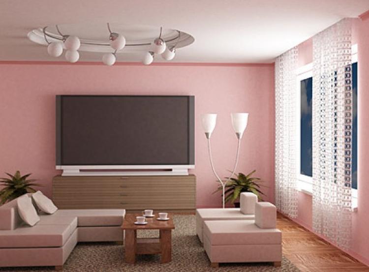 mooie roze woonkamer. Foto geplaatst door liepje op Welke.nl