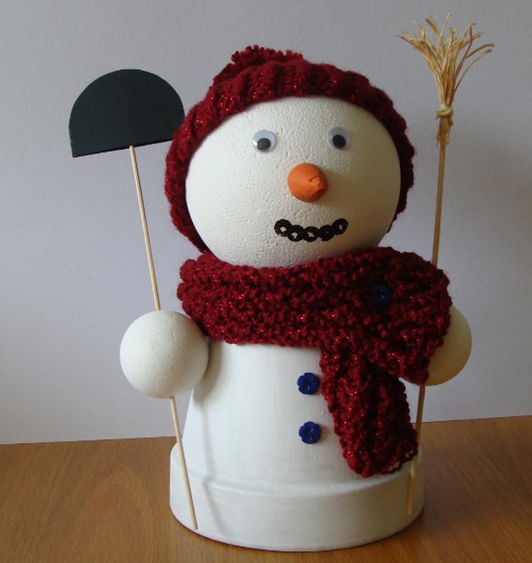 Sneeuwpop Decoratie Voor Kerst Naar Een Idee Van Deze Site Foto