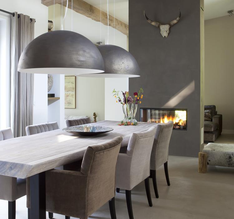 Mooie stoere sfeer voor de eetkamer. Foto geplaatst door Gisela40 ...