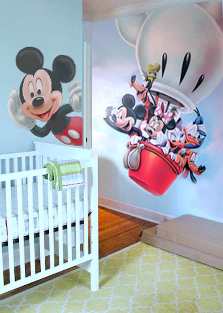 9c706301adb8 SiPi-Design muurschildering  Disney Mickey Mouse Clubhouse luchtballon