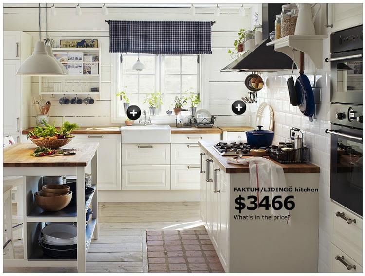 Inspiratie voor witte ikea keuken met naturel blad, diepe spoelbak ...