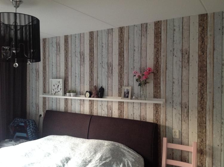 Steigerhout Behang Slaapkamer : Sloophout behang op de slaapkamer. foto geplaatst door arnoldn85 op