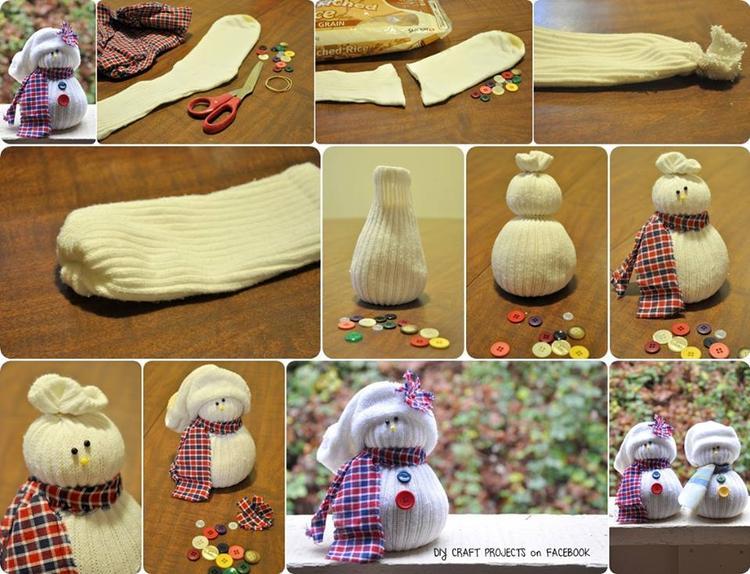 Leuke Sneeuwpop Sokken Makkelijk Om Zelf Te Maken Foto Geplaatst