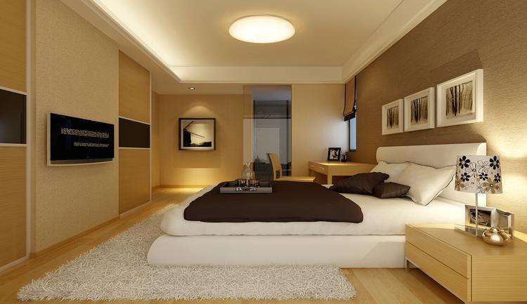 mooie sfeervolle slaapkamer met mooie plafondlamp van dalen tech