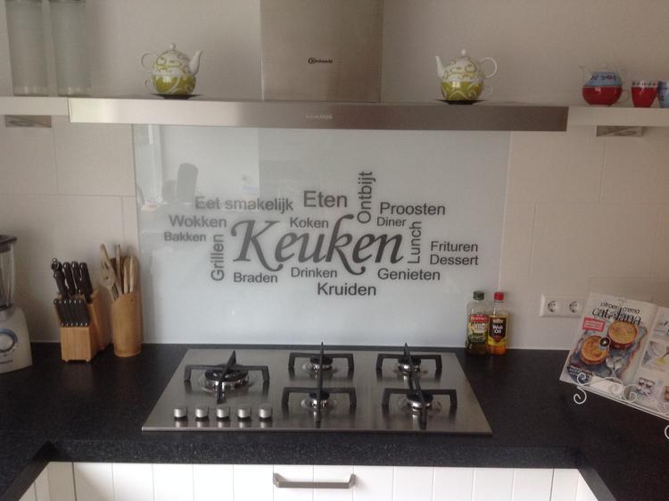 Keuken Witjes Achterwand : Leuk voor in de keuken glazen achterwand met leuke tekst komt