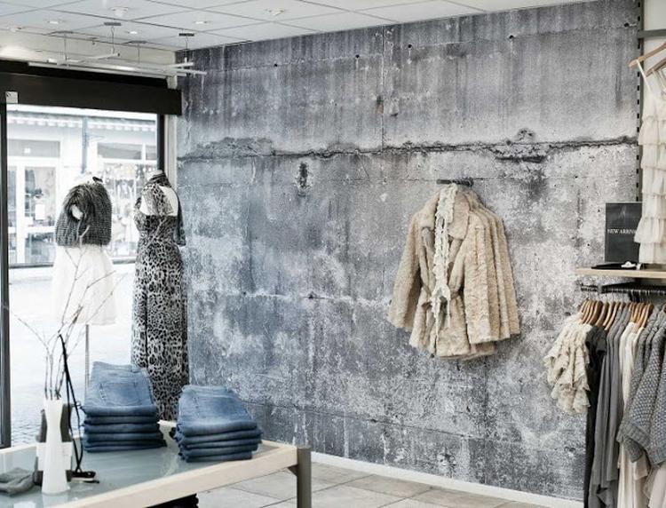 Betonlook behang verf - industrieel interieur. Foto geplaatst door ...