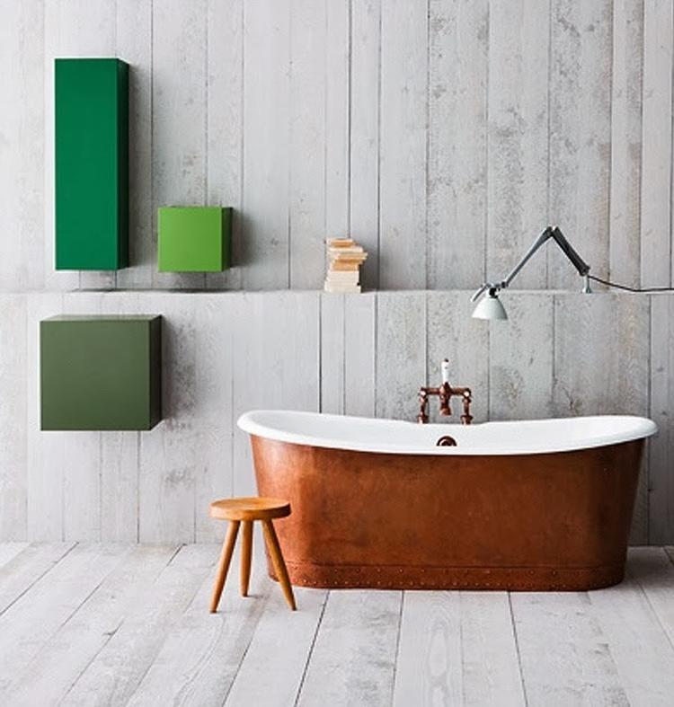 Industriële inrichting- koper - trend - badkamer- industrieel ...