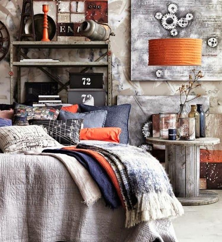 Industrieel kleuren woonkamer for Decoratie industrieel