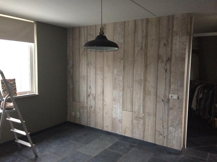 Idée Meuble Maison » steigerhout behang blauw | Meuble